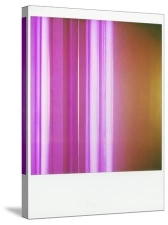 Polaroid of Colourful Stripes Created by Coloured Fluorescent Tubes-Lee Frost-Stretched Canvas Print