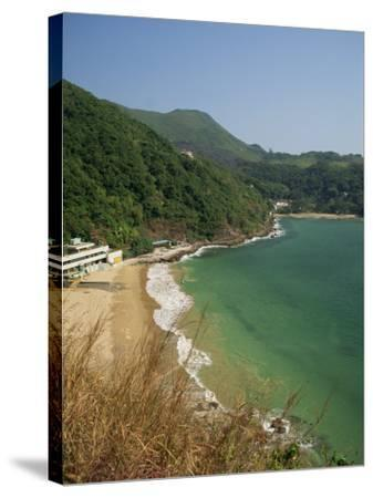 Coastline and Beach at Clearwater Bay in the New Territories, Hong Kong, China Asia-Fraser Hall-Stretched Canvas Print