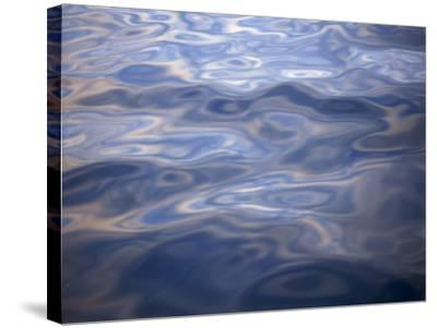 Clouds Reflected in Calm Water, Arctic, Polar Regions-Dominic Harcourt-webster-Stretched Canvas Print