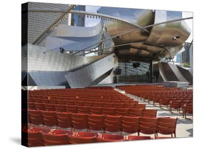 Jay Pritzker Pavilion Designed by Frank Gehry, Millennium Park, Chicago, Illinois, USA-Amanda Hall-Stretched Canvas Print