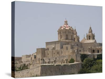 Metropolitan Cathedral in Mdina, the Fortress City, Malta, Europe-Robert Harding-Stretched Canvas Print