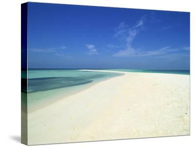 Empty Tropical Beach in the Maldive Islands, Indian Ocean-Harding Robert-Stretched Canvas Print
