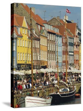 Busy Restaurant Area, Nyhavn, Copenhagen, Denmark, Scandinavia, Europe-Harding Robert-Stretched Canvas Print