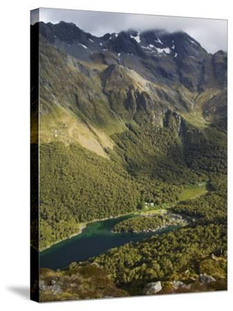 Lake Mackenzie on the Routeburn Track, Fiordland National Park, South Island, New Zealand-Kober Christian-Stretched Canvas Print