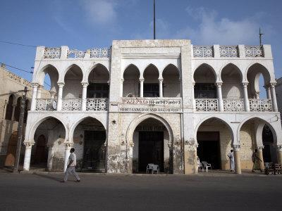 Ottoman Architecture Visible in the Coastal Town of Massawa, Eritrea, Africa-Mcconnell Andrew-Stretched Canvas Print