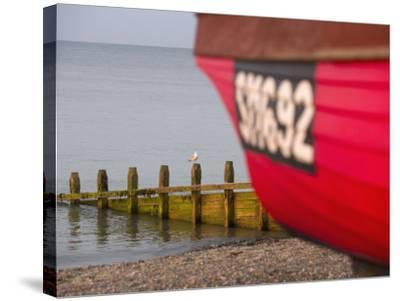 Fishing Boat, Worthing Beach, West Sussex, England, United Kingdom, Europe-Miller John-Stretched Canvas Print
