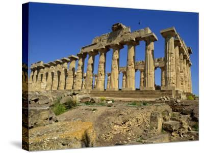 Ruins of the Greek Temples at Selinunte on the Island of Sicily, Italy, Europe-Newton Michael-Stretched Canvas Print