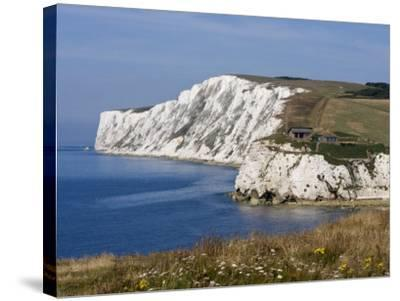 Tennyson Down, Black Rock and Highdown Cliffs from Freshwater Bay, Isle of Wight, England, UK-Rainford Roy-Stretched Canvas Print