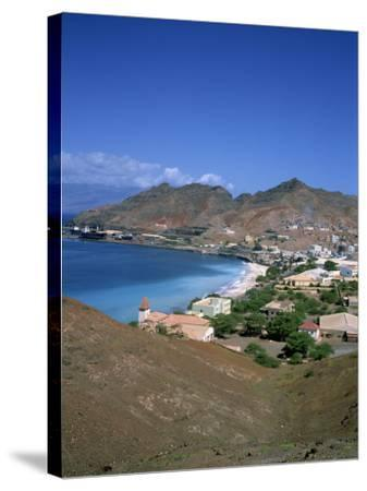 Bay and Town of Mondelo on Sao Vicente Island, Cape Verde Islands, Atlantic Ocean, Africa-Renner Geoff-Stretched Canvas Print