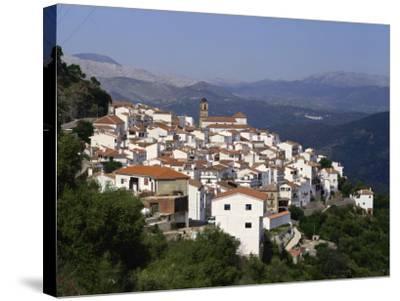 White Village of Algatocin, Andalucia, Spain, Europe-Short Michael-Stretched Canvas Print