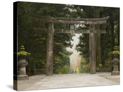 Stone Torii, Tosho-Gu Shrine, Nikko, Central Honshu, Japan-Schlenker Jochen-Stretched Canvas Print