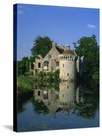 Castle Reflected in Lake, Scotney Castle, Near Lamberhurst, Kent, England, United Kingdom, Europe-Tomlinson Ruth-Stretched Canvas Print