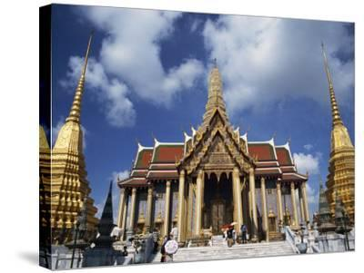 Royal Pantheon at Wat Phra Keo in the Grand Palace, Bangkok, Thailand, Southeast Asia-Tomlinson Ruth-Stretched Canvas Print