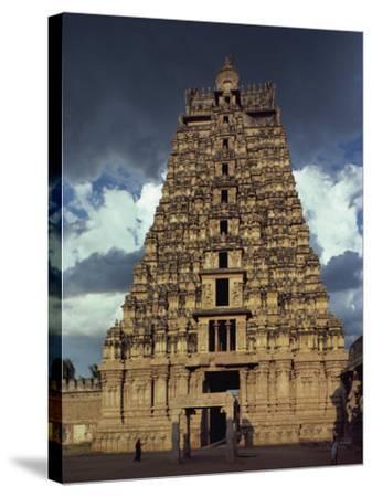 Gateway Shrine, Srirangam Temple, Tamil Nadu State, India-Woolfitt Adam-Stretched Canvas Print