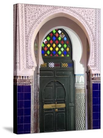Door in the Souks in the Medina, Marrakesh, Morroco, North Africa, Africa-De Mann Jean-Pierre-Stretched Canvas Print