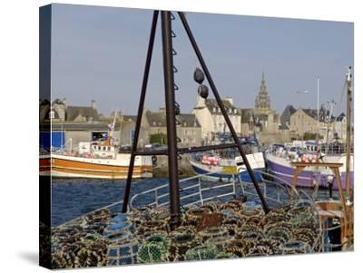 Roscoff Harbour, North Finistere, Brittany, France, Europe-De Mann Jean-Pierre-Stretched Canvas Print