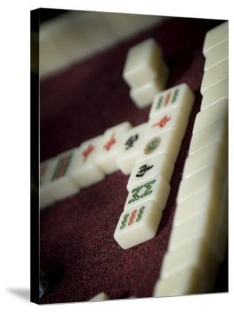 Mahjong Tiles, Dali, Yunnan, China-Porteous Rod-Stretched Canvas Print