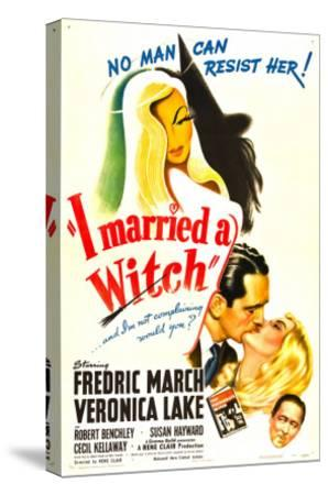 I Married a Witch, Fredric March, Veronica Lake, Robert Benchley, 1942--Stretched Canvas Print