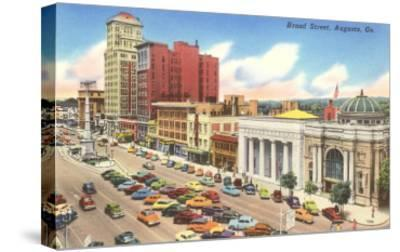 Broad Street, Augusta, Georgia--Stretched Canvas Print