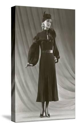 Twenties Mannequin with Mutton Sleeves--Stretched Canvas Print