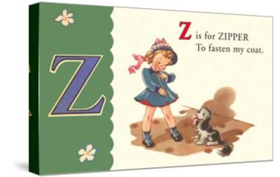 Z is for Zipper--Stretched Canvas Print
