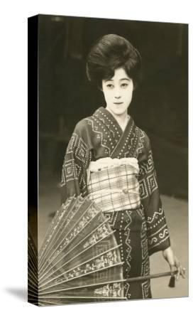 Modern Geisha--Stretched Canvas Print