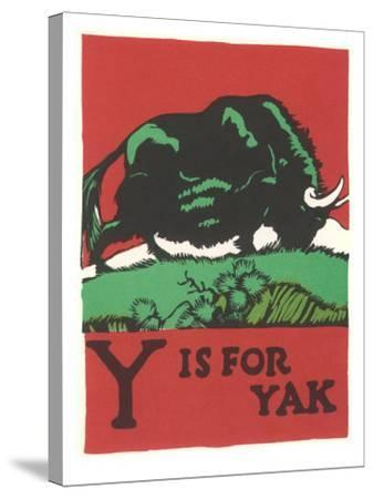 Y is for Yak--Stretched Canvas Print