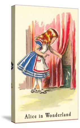 Alice in Wonderland, Alice Finds Door--Stretched Canvas Print
