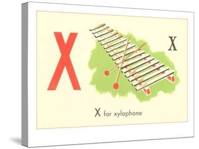 X is for Xylophone--Stretched Canvas Print