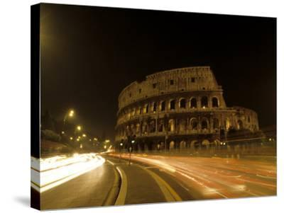 Colosseum Ruins at Night, Rome, Italy-Bill Bachmann-Stretched Canvas Print