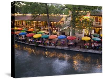 River Walk Restaurants and Cafes of Casa Rio, San Antonio, Texas-Bill Bachmann-Stretched Canvas Print
