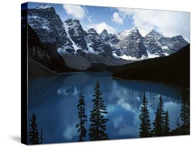 Valley of Ten Peaks, Lake Morain, Banff National Park, Alberta, Canada-Charles Gurche-Stretched Canvas Print