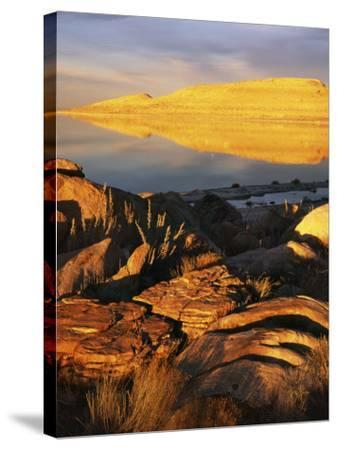 Stansbury Island, Great Salt Lake, Utah, USA-Charles Gurche-Stretched Canvas Print