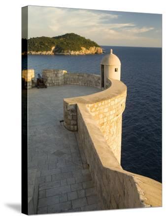 Old city walls built 10th century, Dubrovnik, Dalmatia, Croatia-John & Lisa Merrill-Stretched Canvas Print