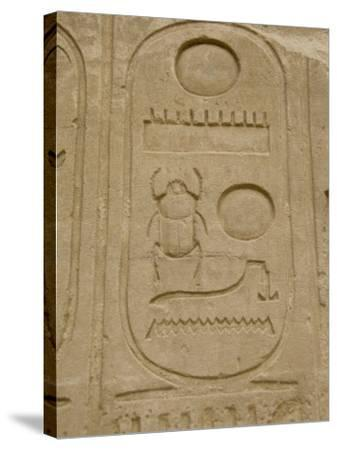 Hieroglyphics detail, Karnak Temple, East Bank, Luxor, Egypt-Cindy Miller Hopkins-Stretched Canvas Print