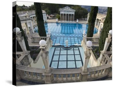 Neptune Pool at Hearst Castle, San Simeon, California, USA-Rob Tilley-Stretched Canvas Print