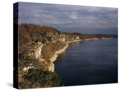 Limestone Bluffs Rim Scenic Lake of the Ozarks-Joseph Baylor Roberts-Stretched Canvas Print