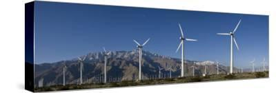 Windmills at San Gorgonia Pass, in Palms Springs, California-Greg Dale-Stretched Canvas Print