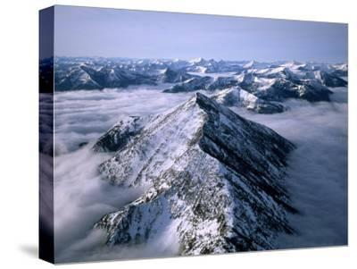 Aerial View of Montana's Rocky Mountain Front-Joel Sartore-Stretched Canvas Print