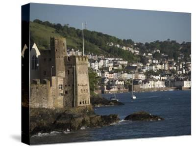 Dartmouth Castle at the Mouth of River Dart, Dartmouth in Background-Keenpress-Stretched Canvas Print