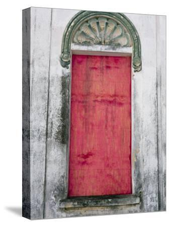 Door in a Building in a Small Town West of Sao Paulo, Brazil-Scott Warren-Stretched Canvas Print