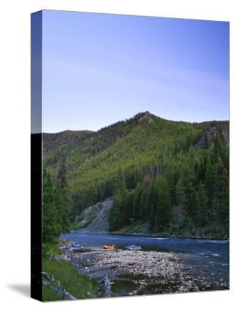 Camping on the Middle Fork of the Salmon River, Idaho-Drew Rush-Stretched Canvas Print