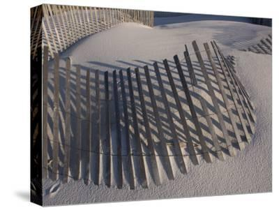 Sand Fence on the Beach in Destin, Florida-Marc Moritsch-Stretched Canvas Print