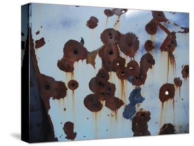 Bullet Holes in an Old Abandoned Car in Death Valley, Ca-Raymond Gehman-Stretched Canvas Print