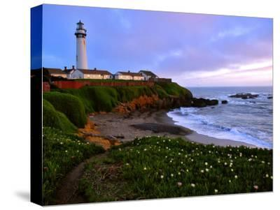 View of Pigeon Point Lighthouse, Off Scenic Route 1,California-Raymond Gehman-Stretched Canvas Print