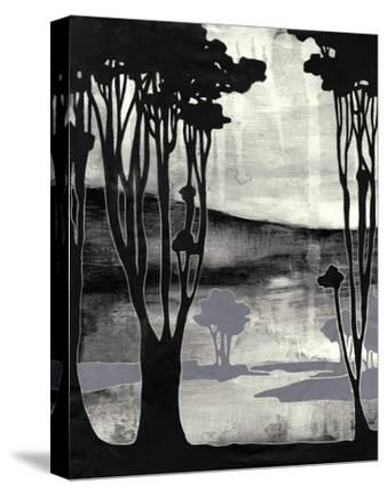 Nouveau Landscape II-Jennifer Goldberger-Stretched Canvas Print