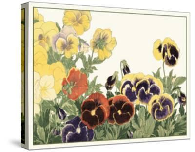 Japanese Flower Garden V-Konan Tanigami-Stretched Canvas Print