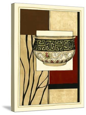 Printed Porcelain Garden IV-Jennifer Goldberger-Stretched Canvas Print