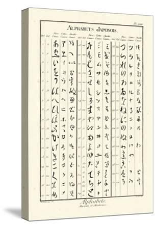 Alphabets Japonois-Denis Diderot-Stretched Canvas Print