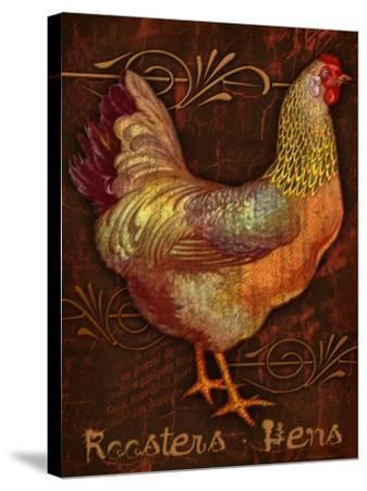 Roosters & Hens-Kate Ward Thacker-Stretched Canvas Print